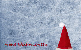 Christmas hat, snowflake, fiber fabric and glitter film, background Royalty Free Stock Image