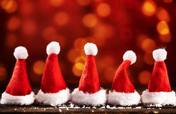Christmas hat symbol for xmas cards Stock Images