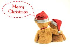 Christmas hat with Teddy Bear Royalty Free Stock Photos