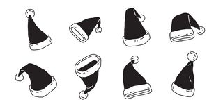 Christmas Hat vector Santa Claus cartoon icon logo clip art illustration doodle. Christmas Hat vector Santa Claus cartoon icon logo illustration doodle clip art Stock Illustration