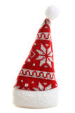 Christmas hat. Warm and beautiful Christmas hat on an isolated white background Royalty Free Stock Image