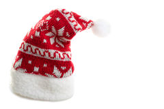 Christmas hat. Warm and beautiful Christmas hat on an isolated white background Royalty Free Stock Images