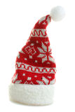 Christmas hat. Warm and beautiful Christmas hat on an isolated white background Stock Photos