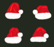 Christmas hats Stock Photos