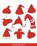 Christmas Hats Set Royalty Free Stock Image