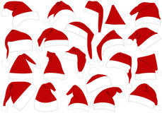 Christmas Hats Set Royalty Free Stock Photo