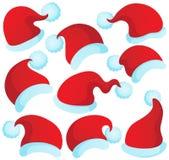 Christmas hats theme 2 Stock Images