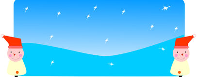 Christmas header. Christmas web site header with stars and santa clause Stock Images