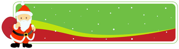 Christmas Header / Banner santa Royalty Free Stock Images