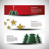 Christmas header designs Stock Photo