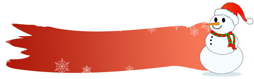 Christmas header  Snowman Stock Image