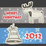 Christmas headers Royalty Free Stock Photos