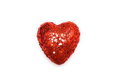 Christmas heart. Isolated on white Stock Images