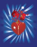 Christmas heart. Vector illustration in AI-EPS8 format Stock Photos