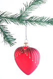 Christmas heart. On white background Stock Photos