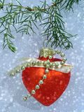 Christmas heart. Christmas heart in snow Stock Image