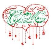 Christmas heart background Royalty Free Stock Photo