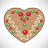Christmas heart cookie Stock Images