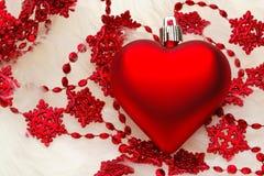 Christmas Heart Decoration Stock Photography