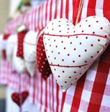 Christmas heart gifts Royalty Free Stock Image
