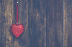 Christmas heart hanging Royalty Free Stock Image