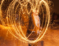 Christmas Heart Light Effect Royalty Free Stock Image