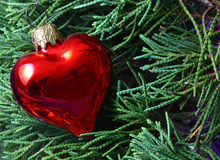 Christmas Heart Ornament Stock Photos