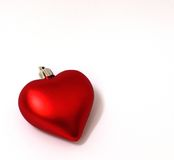 Christmas heart ornament. A red christmas heart shaped ornament Royalty Free Stock Photography