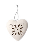 Christmas heart of porcelain Royalty Free Stock Photos
