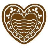 Christmas heart shape gingerbread cookie. Vector illustration design royalty free illustration