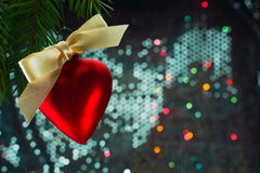 Christmas heart shaped balloon Stock Photo