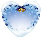 Christmas heart-shaped card Royalty Free Stock Images