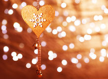 Christmas heart shaped decoration Stock Photography