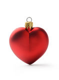 Christmas heart shaped red ball Royalty Free Stock Photos