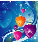 Christmas heart vector Stock Image