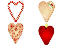 Christmas heart on white background Stock Photography