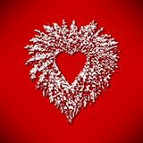 Christmas heart wreath graphic royalty free illustration