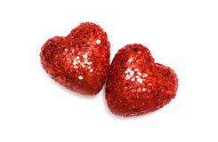 Christmas hearts Stock Image