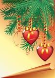 Christmas hearts Stock Photography