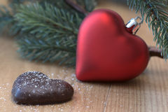 Christmas Hearts Stock Images