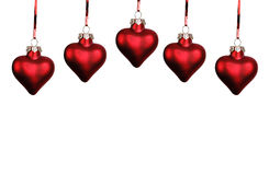 Christmas hearts Royalty Free Stock Photo