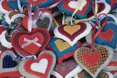 Christmas hearts Stock Photography