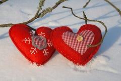 Christmas hearts Stock Photo
