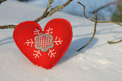 Christmas hearts Royalty Free Stock Images