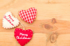 Christmas hearts Royalty Free Stock Photography
