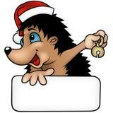 Christmas Hedgehog Stock Photography