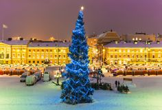 Christmas in Helsinki, Finland Royalty Free Stock Photos