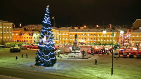 Christmas in Helsinki, Finland stock footage