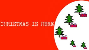 Illustration of Christmas is Here Words