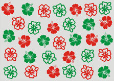 Christmas Hibiscus Flowers Wallpaper Background Stock Image